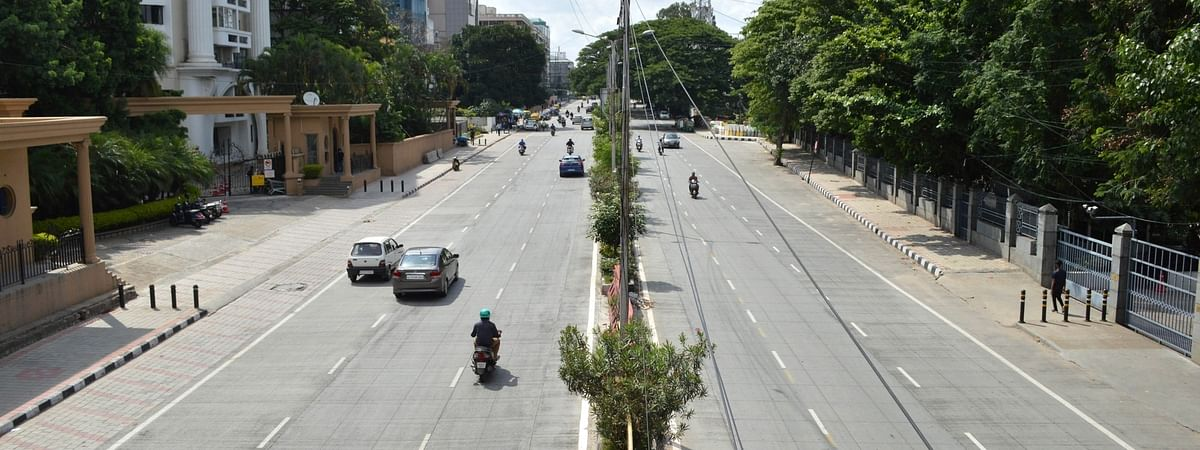 The usually busy Hosur Road wears a deserted look during a strict lockdown that has been re-imposed for 15 days in five wards across Bengaluru to contain the spread of COVID-19 and reduce the pandemic cases, on June 28, 2020.