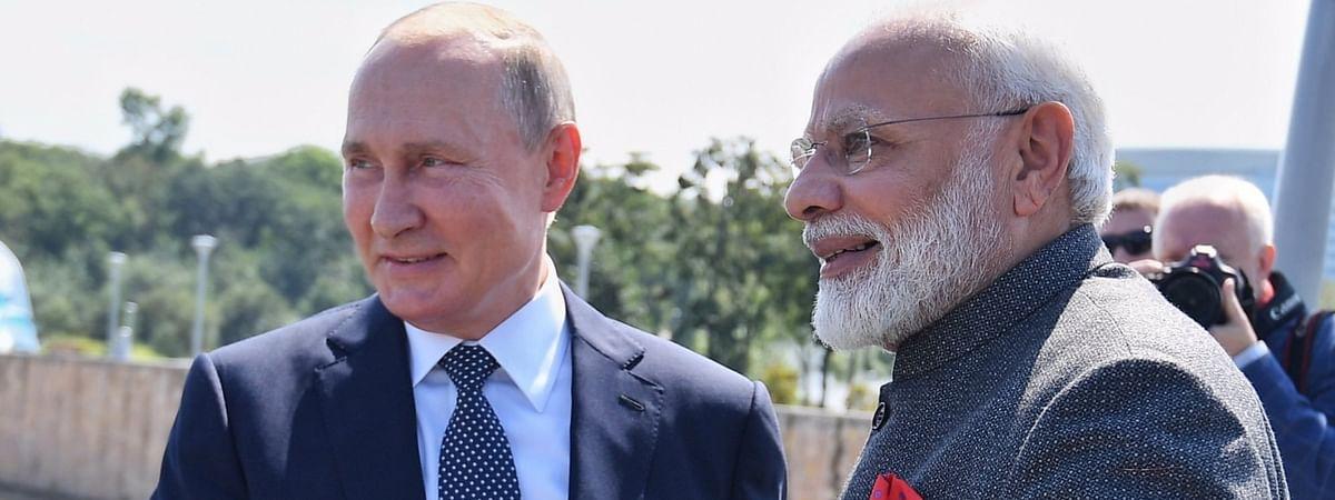 FIle photo of Prime Minister Narendra Modi with Russian President Vladimir Putin in Vladivostok, Russia on September 4, 2019.