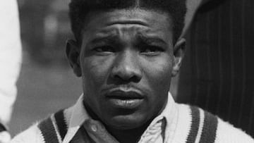 Sir Everton Weekes in his playing days