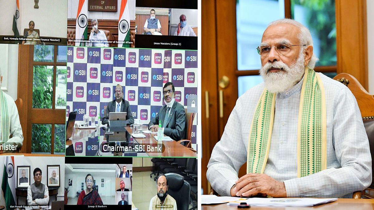 Modi interacts with stakeholders from banks, NBFCs