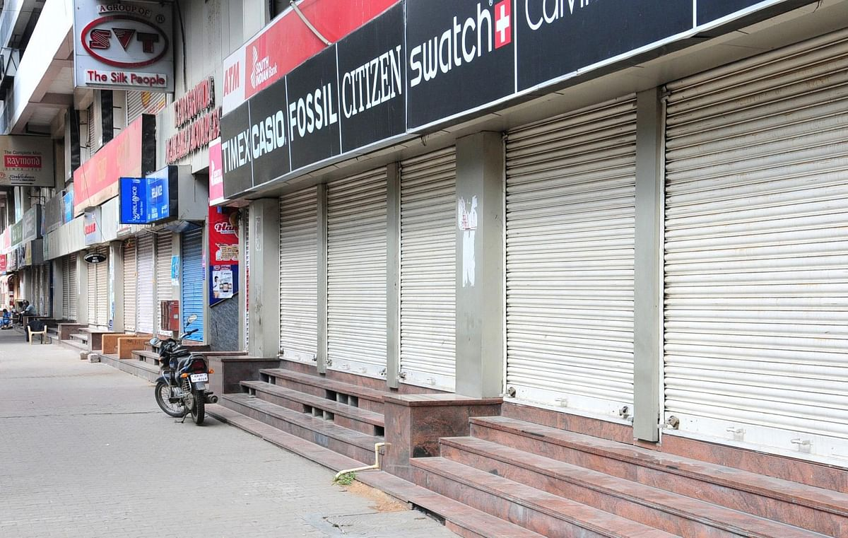 Shops seen closed in Bengaluru during a complete lockdown that has been reimposed on Sundays from July 5 to August 2 across Karnataka to confine citizens at home and restrict their activities or movements, as a measure to contain the spread of coronavirus, on July 5, 2020.