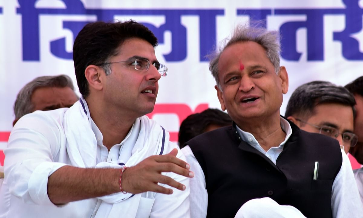 File photo of Rajasthan Chief Minister Ashok Gehlot and Deputy Chief Minister Sachin Pilot