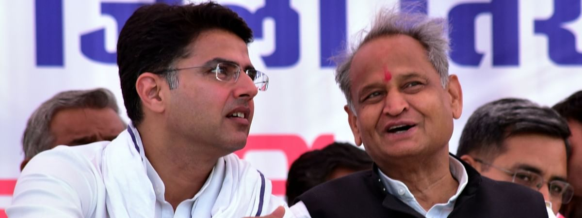 Rajasthan Chief Minister Ashok Gehlot and Deputy Chief Minister Sachin Pilot