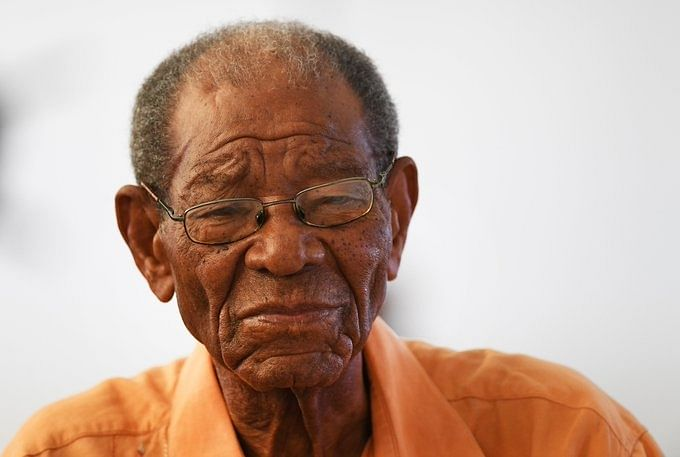 A recent photo of Sir Everton Weekes