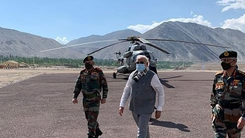 Modi visits forward location in Ladakh amid tension with China