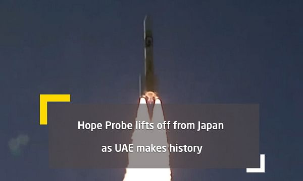 UAE's Hope probe lifts off from Japan on epic journey to Mars