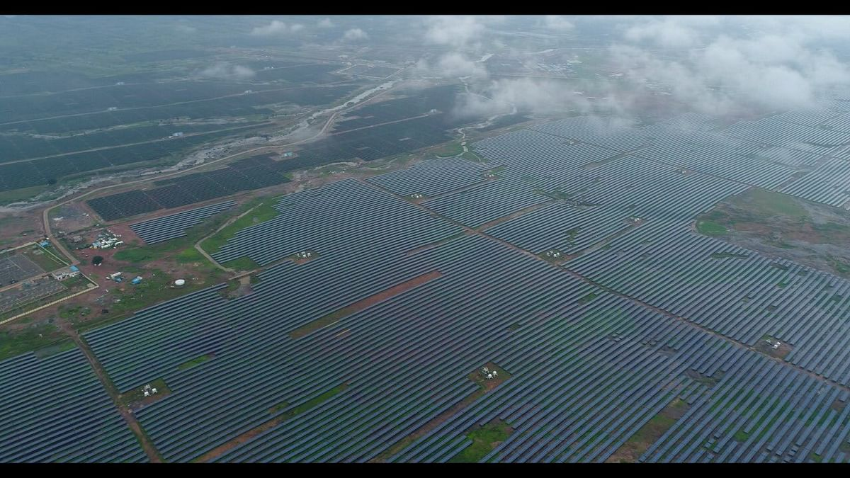 File photo of the Rewa Ultra Mega Solar Power Project, which was dedicated to the nation by Prime Minister Narendra Modi on July 10, 2020.