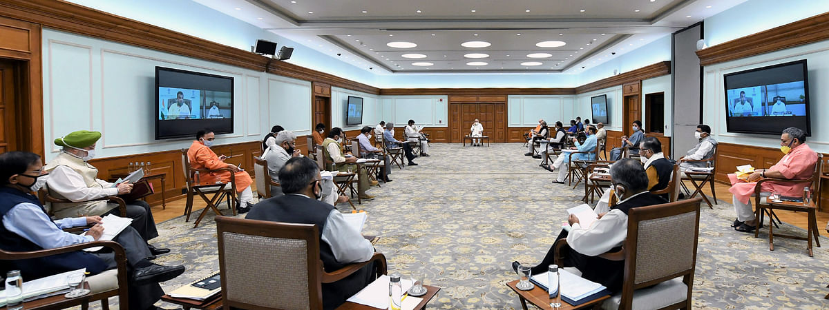 Prime Minister Narendra Modi chairing a meeting of the Union Cabinet in New Delhi, on July 8, 2020.