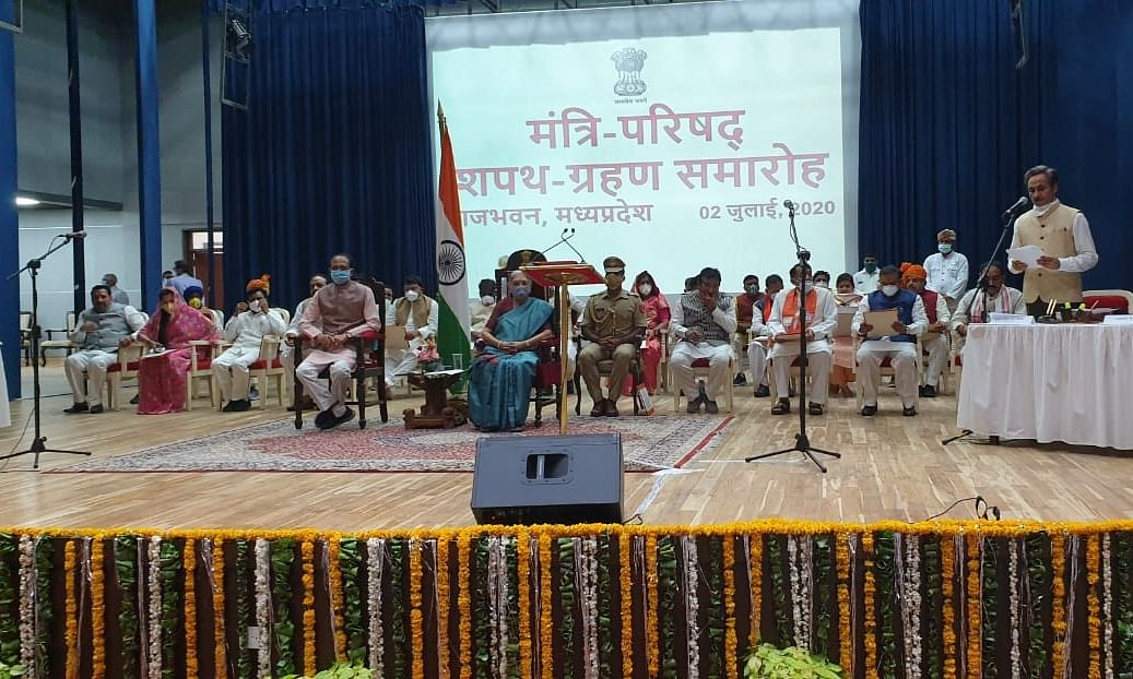 Shivraj inducts 28 ministers, including 12 from Scindia camp