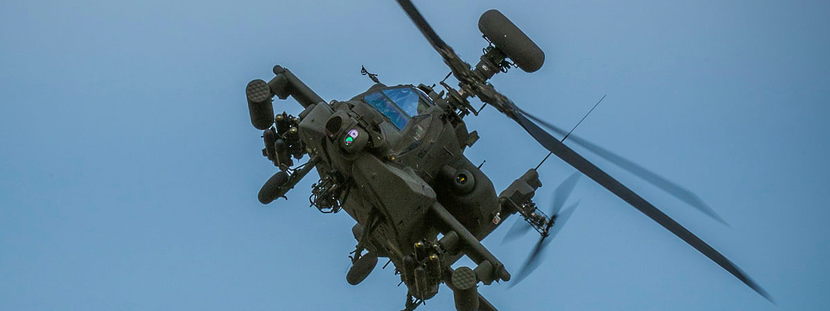 AH-64E Apache helicopters