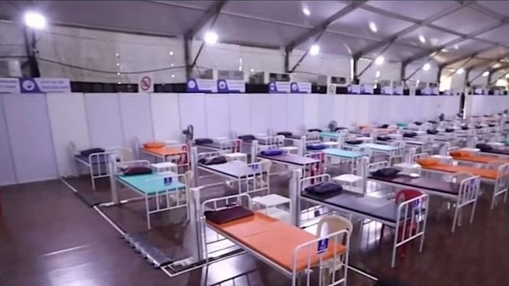A view of a part of the 3250-bed COVID Care facilities inaugurated by Maharashtra Chief Minister Uddhav Thackeray in Mumbai on July 7, 2020.