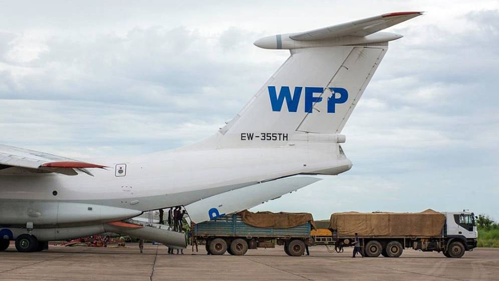Emergency food being loaded to a cargo plane of the World Food Programme (WFP). A recent report showed that the United Nations favoured procuring goods and services from developing countries, economies in transition and least developed countries in 2019.