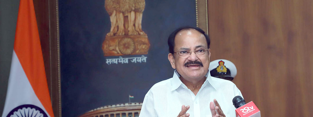Vice-President M Venkaiah Naidu inaugurating the Diamond Jubilee celebrations of IIT Delhi, via video-conferencing, in New Delhi on August 17, 2020.