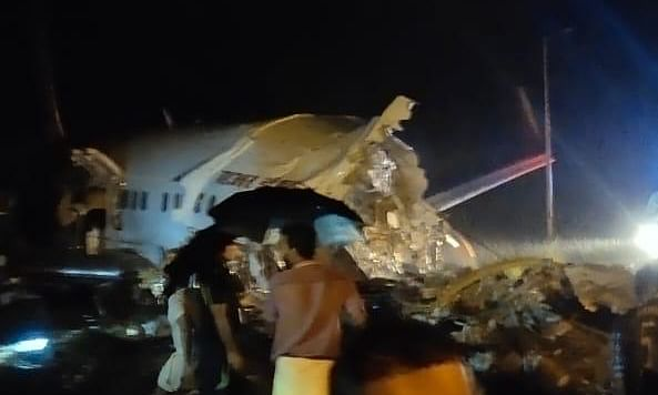 Air India Express flight from Dubai, with 191 on board, skids off runway at Kozhikode