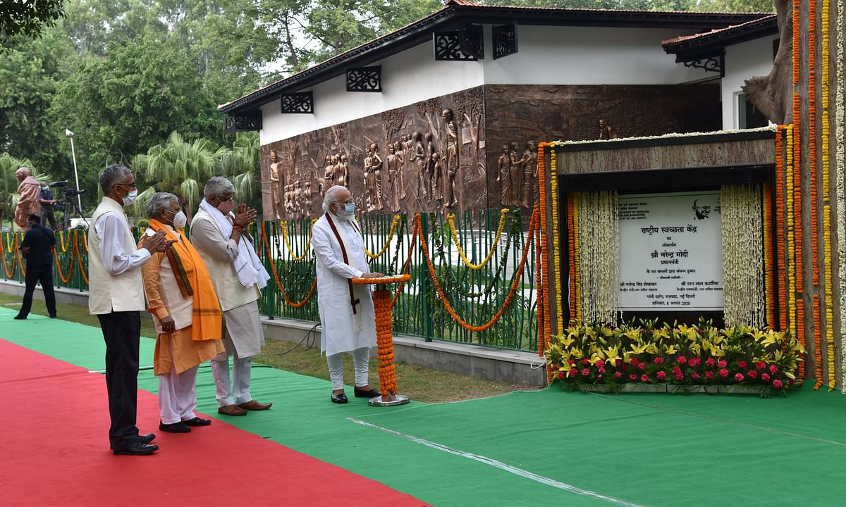 Modi inaugurates Rashtriya Swachhata Kendra, dedicates it as permanent tribute to Mahatma Gandhi
