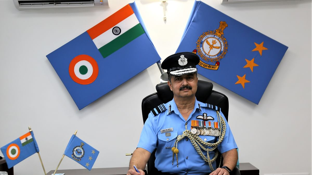 Air Marshal V R Chaudhari assumes charge as AOC-in-C of Western Air Command