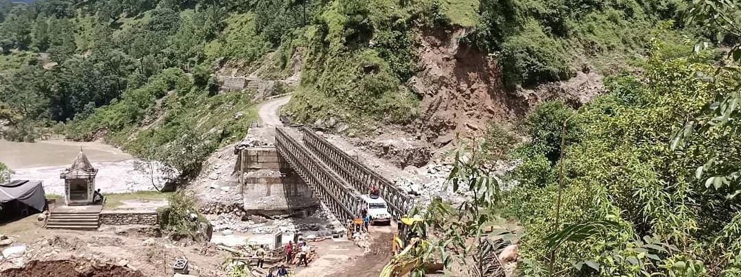 BRO constructs 180-feet bailey bridge to connect 20 villages in Uttarakhand in less than 3 weeks