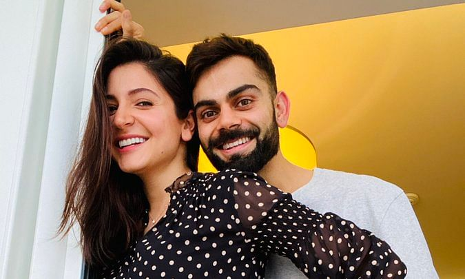 A photo of Virat Kohli and Anushka Sharma that they posted on Twitter on August 27, 2020 to announce that they are expecting their first baby.