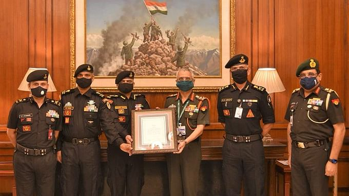 Chief of Army Staff awards COAS Unit Appreciation to 51 Special Action Group of NSG