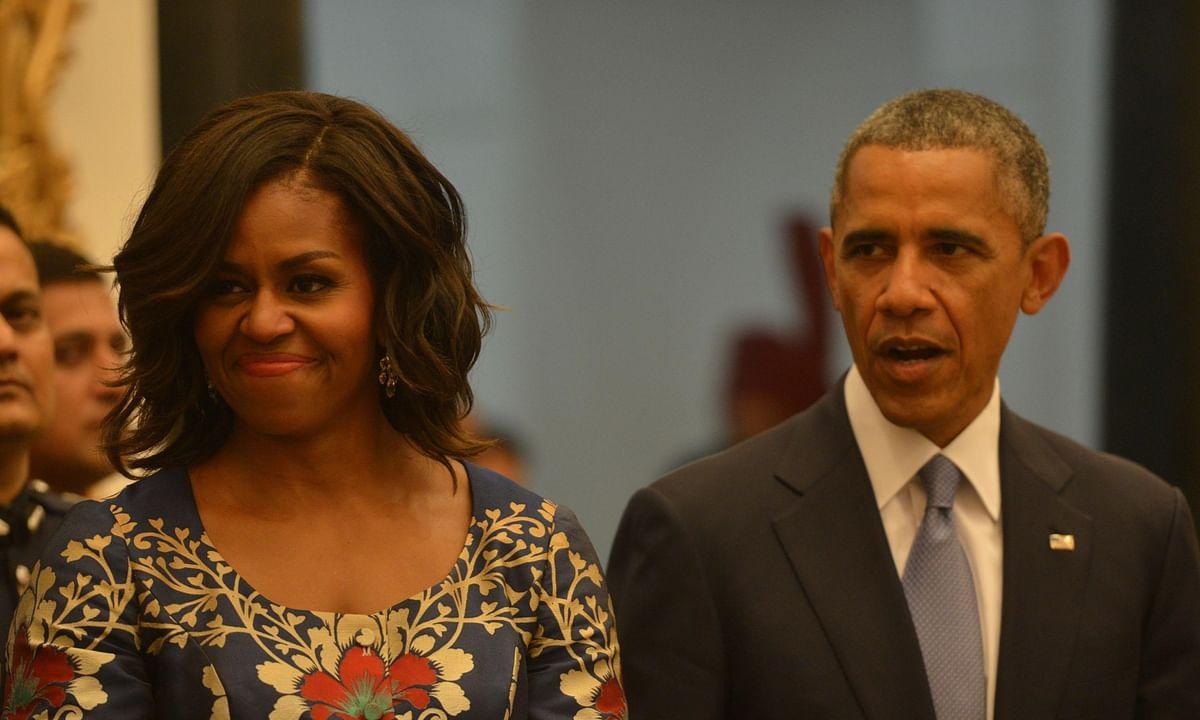 Michelle Obama with her husband and former US President Barack Obama