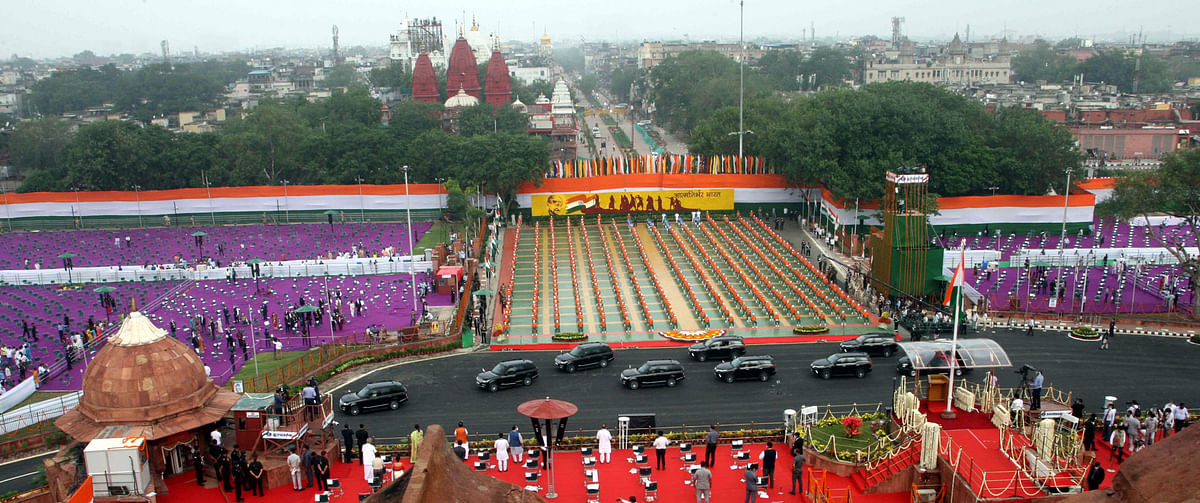 A view of the Independence Day Ceremony at the Red Fort in New Delhi, on August 15, 2020.