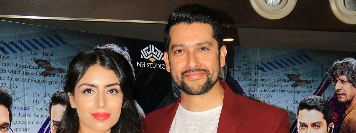 Aftab Shivdasani and his wife Nin Dusanj
