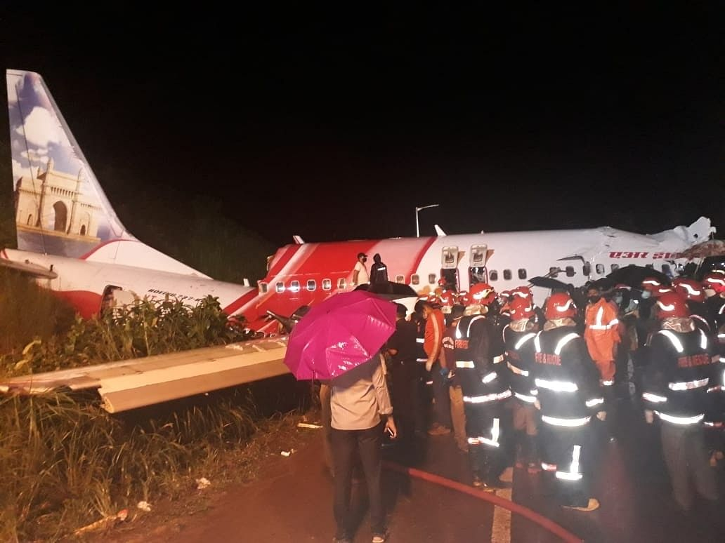 Kozhikode flight tried to land once before final skid on runway