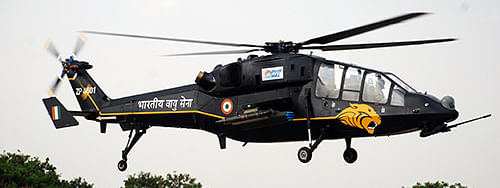 Light combat helicopter, indigenously designed and developed by Hindustan Aeronautics Limited.