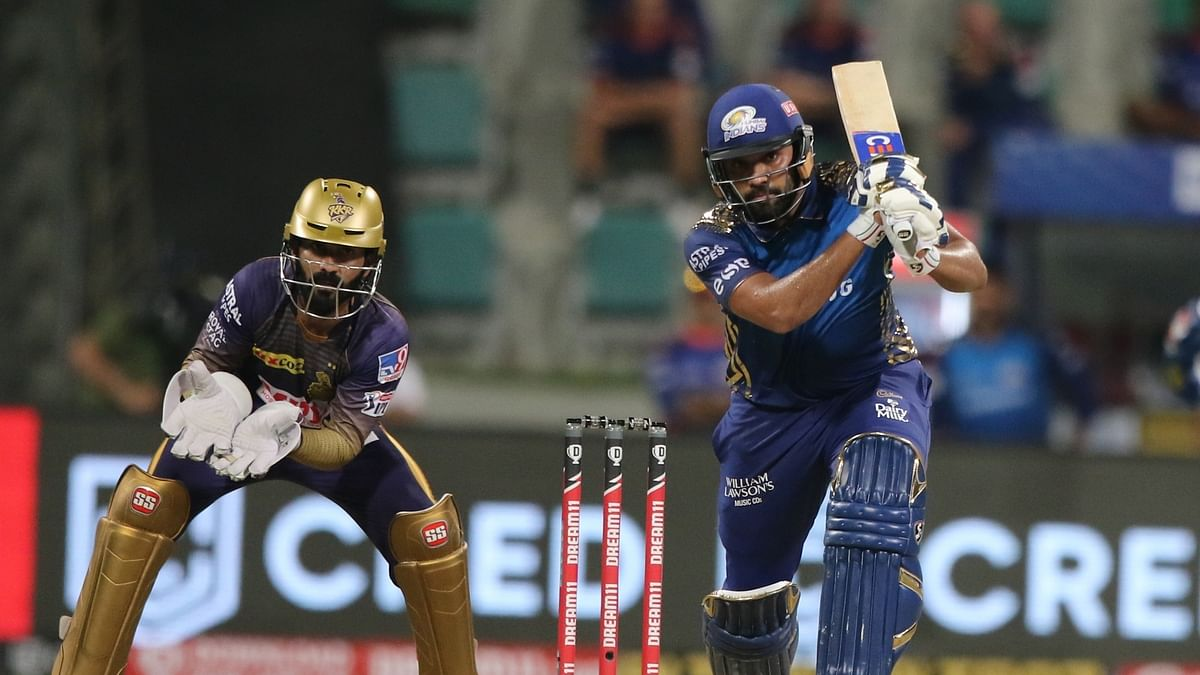 Rohit Sharma's 80 takes MI to 195/5 against KKR