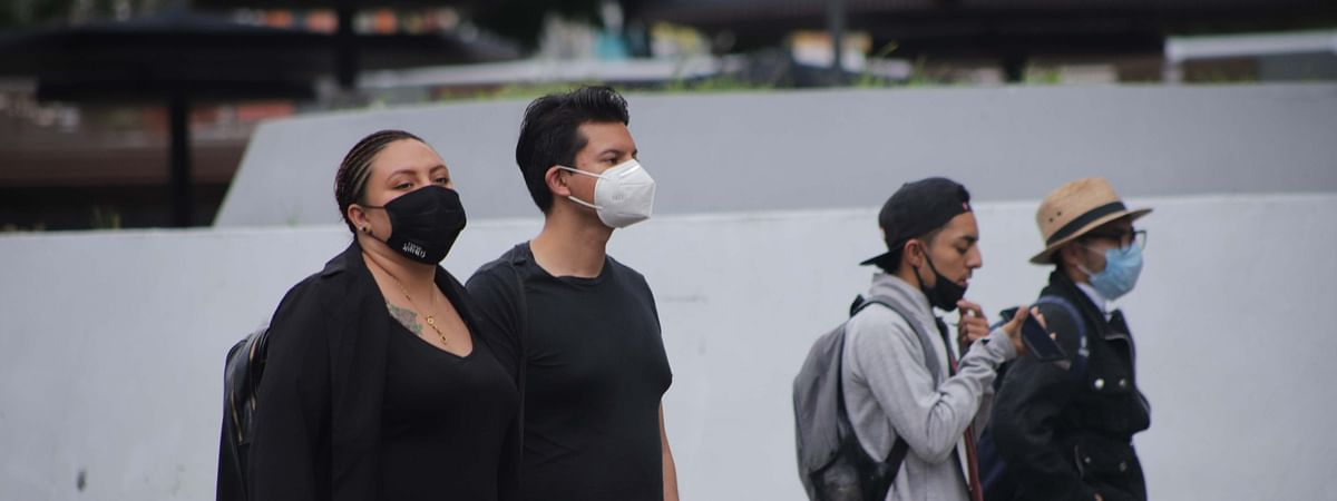 People are seen wearing masks in Mexico City, Mexico, on September 9, 2020.