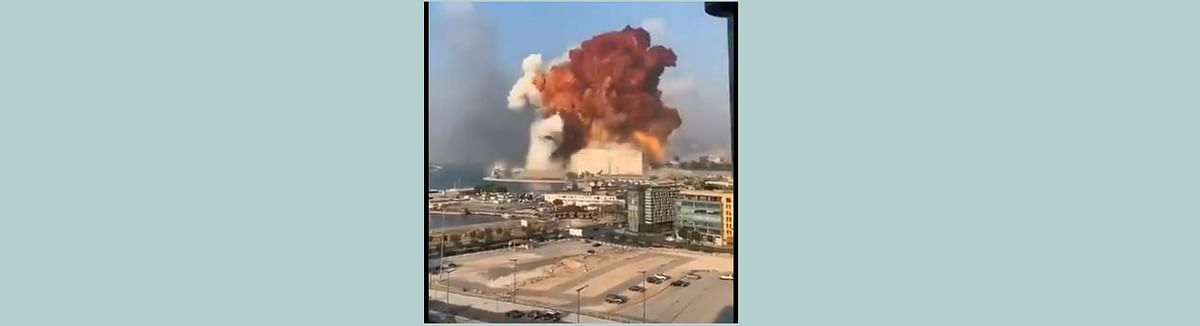 Month after massive explosion, major fire breaks out at Beirut port