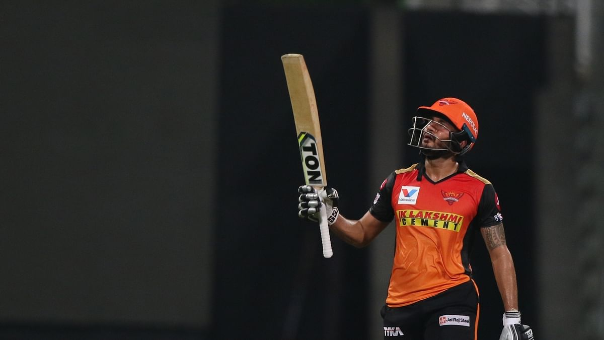 Pandey's 51 helps SRH labour to 142/4 against KKR