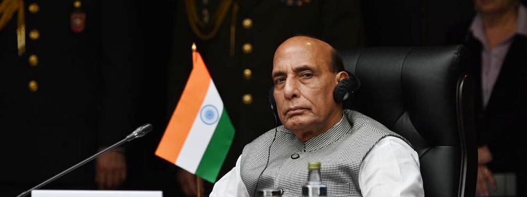 Defence Minister Rajnath Singh attending the Joint Meeting of Defence Ministers of Shanghai Cooperation Organisation (SCO), Commonwealth of Independent States (CIS) and Collective Security Treaty Organisation (CSTO) members, in Moscow, Russia on September 4, 2020.
