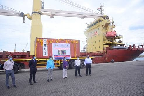 Direct cargo ferry service between India and Maldives launched