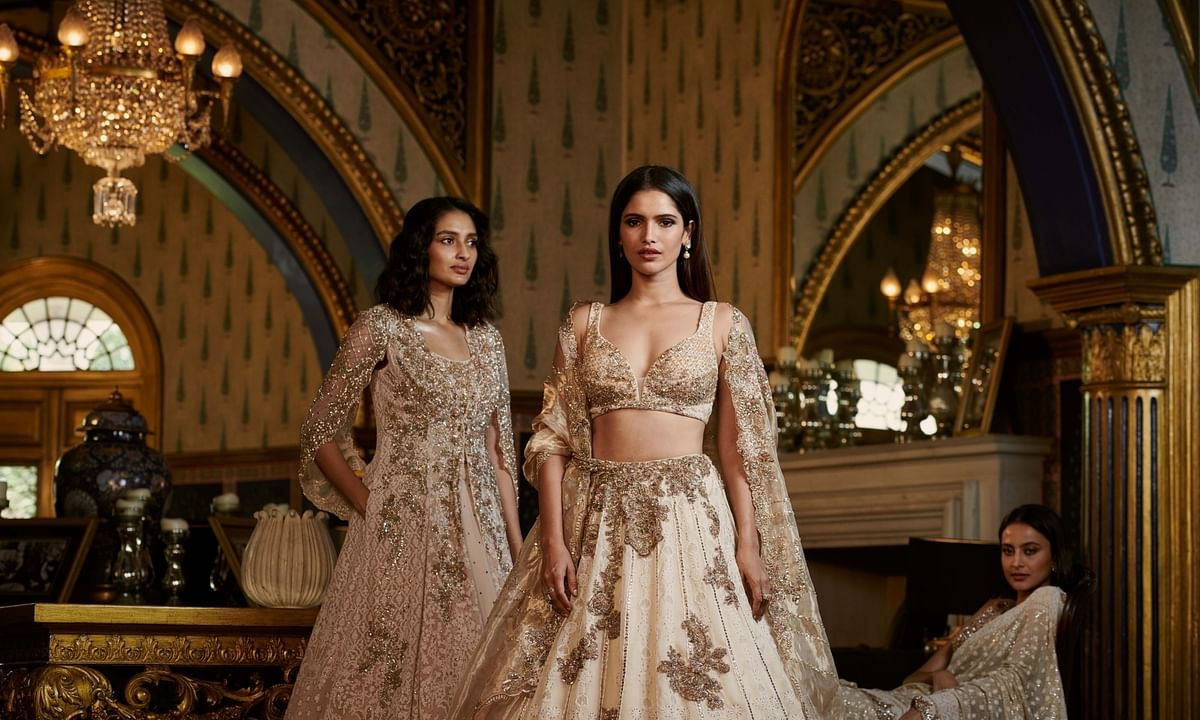 Dolly J's latest collection at the India Couture Week, on September 20, 2020.