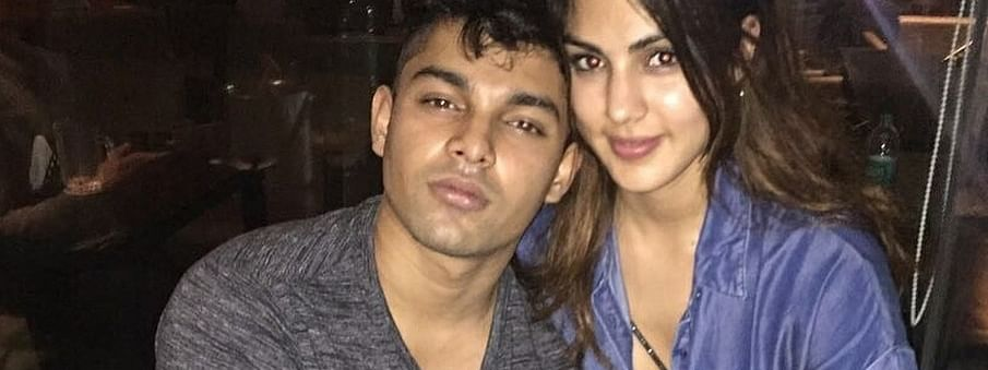 File photo of Showik Chakraborty with sister and actress Rhea Chakraborty, girl-friend of late actor Sushant Singh Rajput.