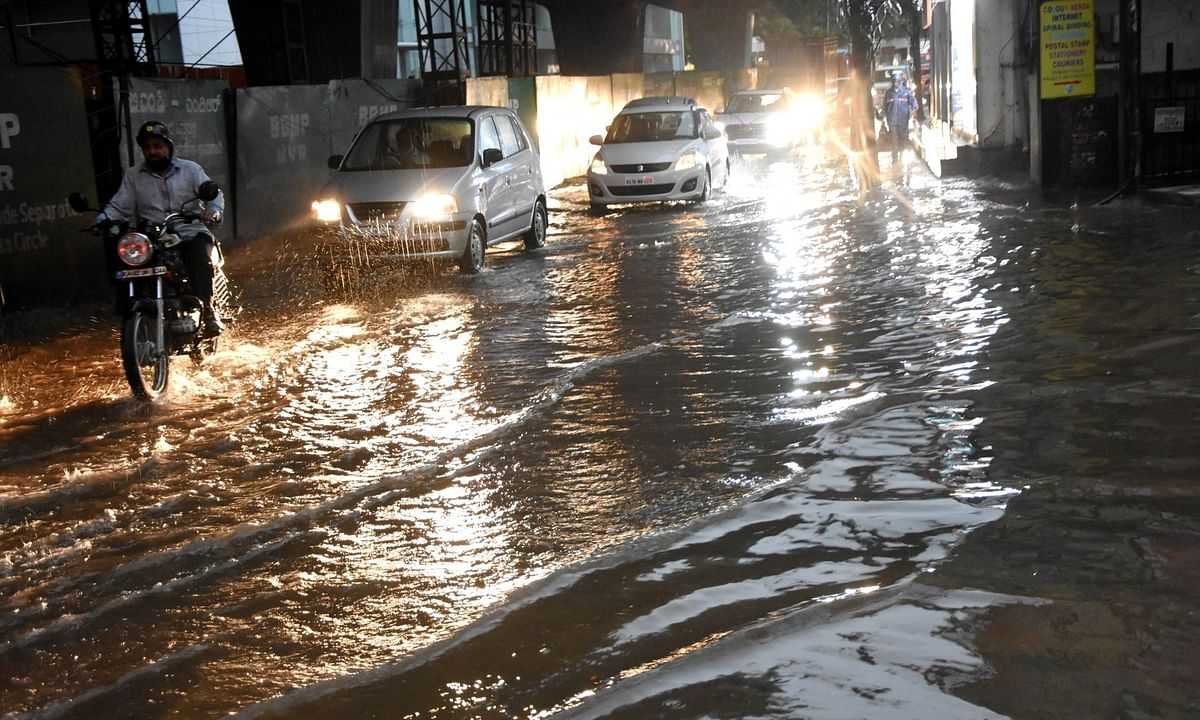 File photo of a waterlogged street in Bengaluru, after heavy rains, on September 19, 2020