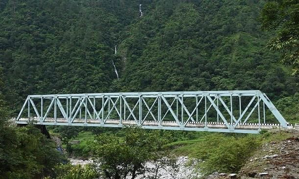 One of the 44 bridges,  built by the Border Roads Organisation, which were dedicated to the nation by  Defence Minister Rajnath Singh through video-conference on October 13, 2020.