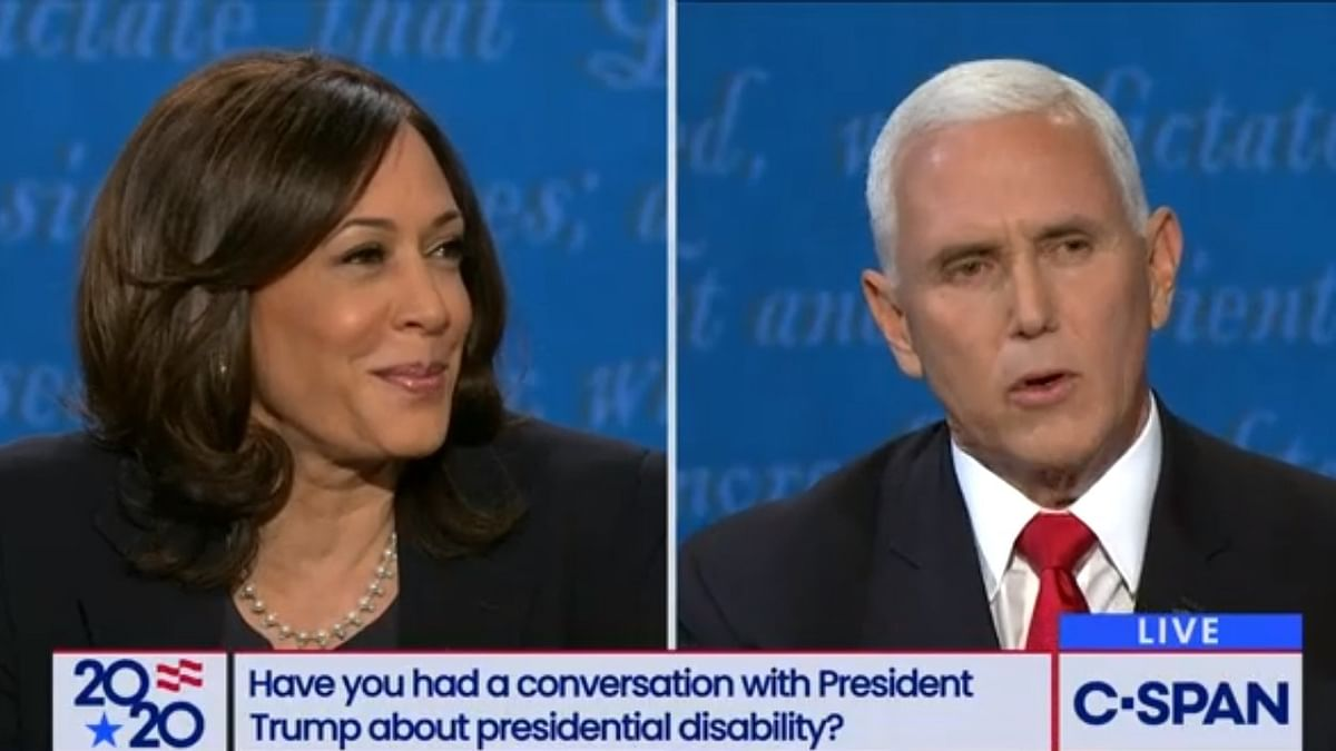 Harris dominates VP debate, fly on Pence's white hair rocks social media
