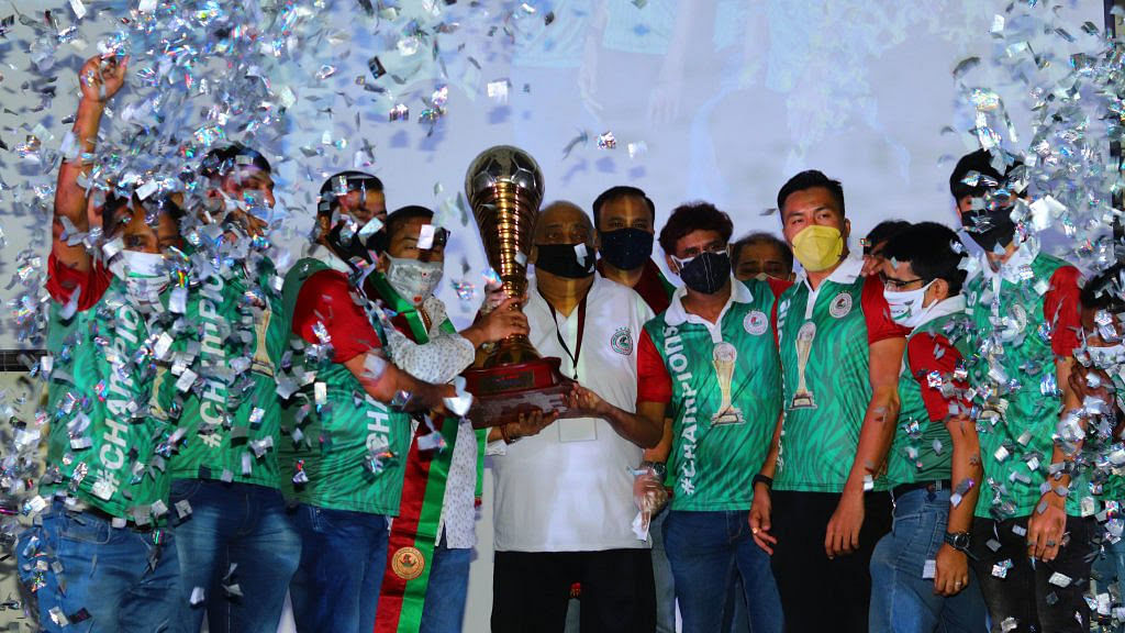 Hero I-League champions trophy for 2019-20 presented to Mohun Bagan