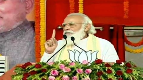 Shun lantern, even poor now have electricity, Modi tells voters in Bihar