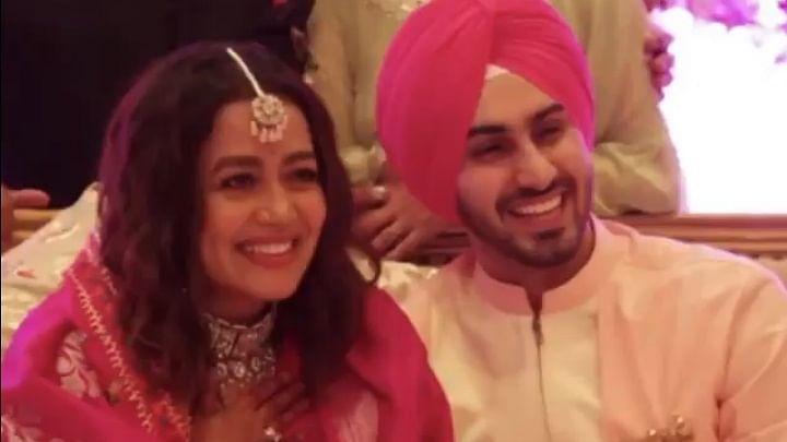 Neha Kakkar shares video of 'roka' ceremony with Rohanpreet Singh