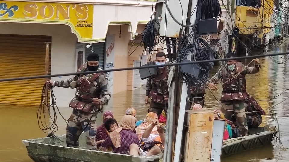 Army, NDRF join rescue, relief work in flood-hit Hyderabad