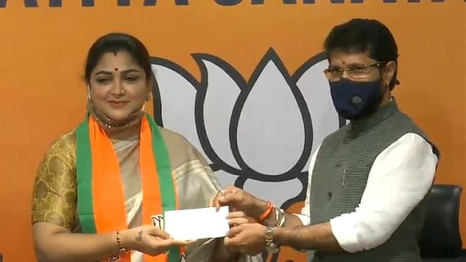 Congress spokesperson Khushboo joins BJP, praises Modi