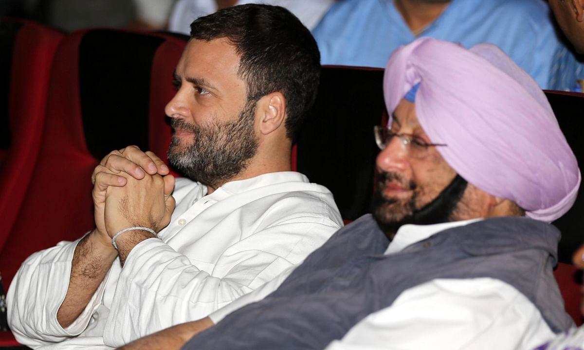 File photo of Congress leader Rahul Gandhi and Punjab Chief Minister Amarinder Singh.
