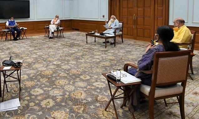 File photo of Prime Minister Narendra Modi at a Cabinet meeting.