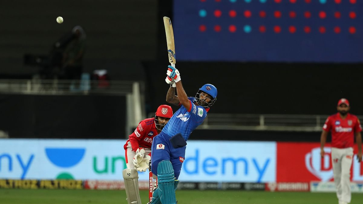 Dhawan's second successive IPL ton takes Delhi to 164/5
