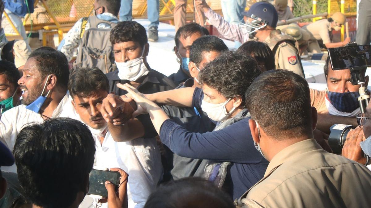 Noida police regrets manhandling of Priyanka Gandhi, sets up probe