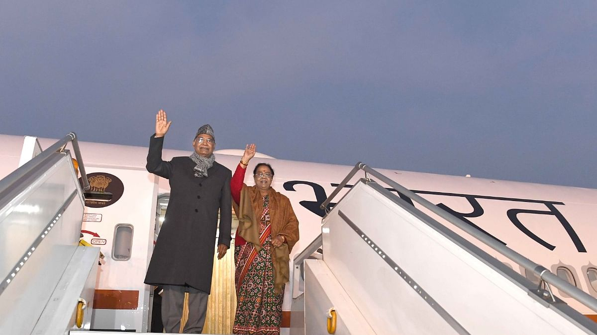 President travels by Air India One - B777 aircraft on its inaugural flight to Chennai