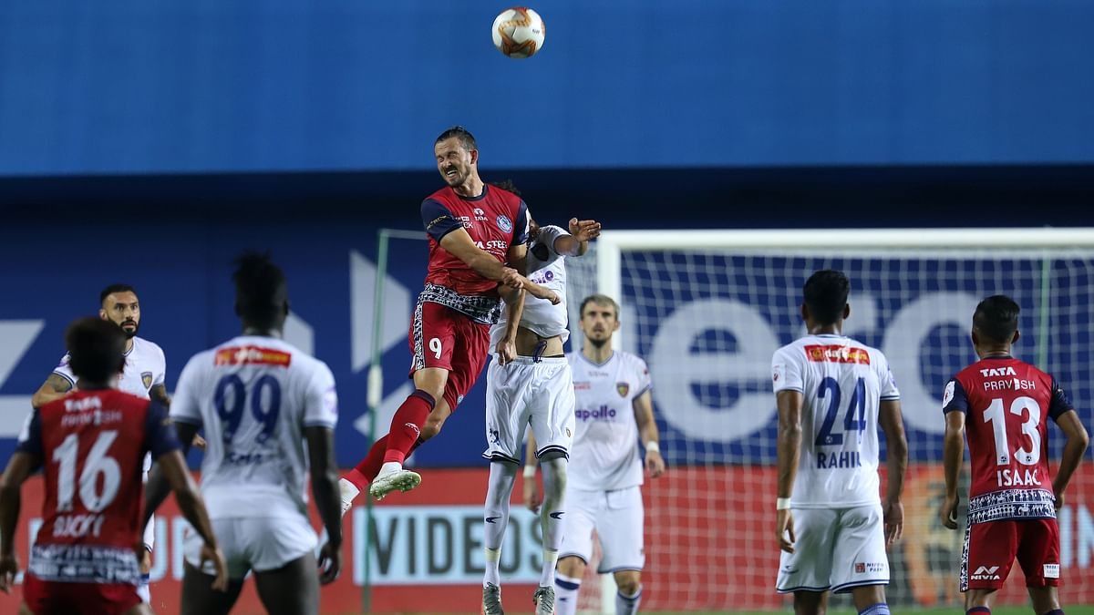 Football  ISL: Chennaiyin down erratic Jamshedpur 2-1